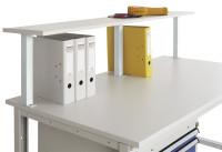 Ablagekonsole aus Stahlblech mit Konsolenträger Lichtgrau RAL 7035 / 750