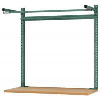 Systemunabhängige Aufbauportale mit Ausleger, für Tischtiefe 600 mm 2000 / Resedagrün RAL 6011