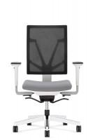 Bürodrehstuhl Torino, Rückenlehne mit Netzbezug Weiß / Hellgrau