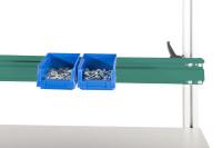 Boxenträgerschiene 40 kg Tragkraft Graugrün HF 0001 / 1200