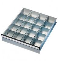 Unterteilungs-Set 5 50 / 3 Fachschienen, 2 Seitenschienen, 16 Fachteiler