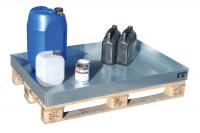 Kleingebindewanne passend für Euro- und Chemiepaletten 600 x 400 x 120 / Mit Lochblechrost