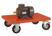 Leichter Plattformwagen TRANSOMOBIL ohne Bügel und Stirnwand Rotorange RAL 2001 / 1200 x 700