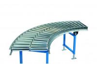 Kurven für Leicht-Stahlrollenbahnen, Bahnbreite 800 mm 75 / 45°