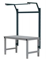 MULTIPLAN Stahl-Aufbauportale mit Ausleger, Grundeinheit Anthrazit RAL 7016 / 1000