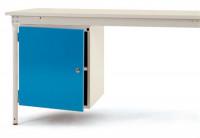 Komplett-Gehäuse BASIS stationär, mit Tür rechts / Lichtblau RAL 5012