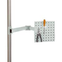 Werkzeugträgerplatten mit Doppelgelenk Schwenkausleger Lichtgrau RAL 7035 / 700