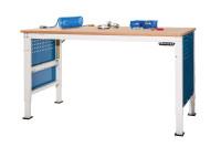 Grundarbeitstisch UNIVERSAL ERGO E Elektro mit Memory Funktion, PVC 22 mm 2500 / 1000 / Alusilber ähnlich RAL 9006