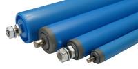 Kunststoff-Tragrollen, Achsenausführung: Feder 200 / 50 x 2,8