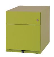 Rollcontainer mit Griffleiste H x B x T 495 x 420 x 775 mm, 1 Fach Silber