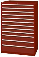 Schubfachschrank MAXTEC stationär, 9 x 100 , 2 x 150 , 1 x 200 mm Vollauszug 100%, 180 kg / Enzianblau RAL 5010