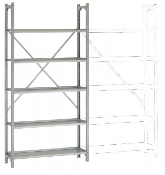 REGISTRA Archiv Standard Einfach-Grundregal, einseitige Nutzung, Höhe 1900-1600 mm