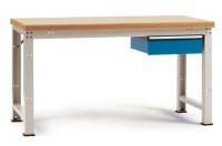 Komplett-Angebot Werkbank PROFI Modell 2, Platte Multiplex geölt 40 mm 1500 / Lichtgrau RAL 7035