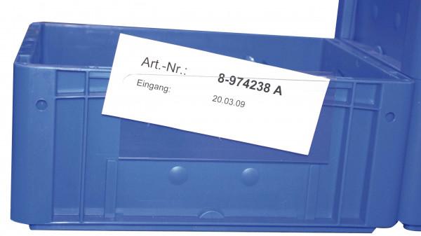 Hartkunststofftaschen zur Behälterkennzeichnung