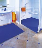 Bodenmatte Antibakteriell, Maßzuschnitt Grau / 800