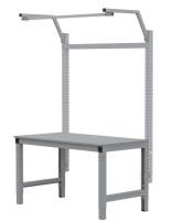 MULTIPLAN Stahl-Aufbauportale mit Ausleger, Grundeinheit Lichtgrau RAL 7035 / 750