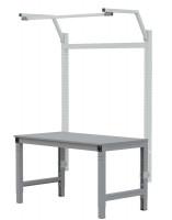 MULTIPLAN Stahl-Aufbauportale mit Ausleger, Grundeinheit Alusilber ähnlich RAL 9006 / 2000