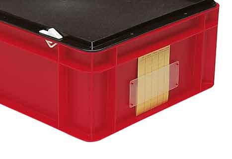 Etikettentaschen für Euronorm Stapelbehälter