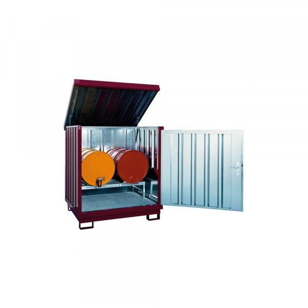 Gefahrstoff Depot, mit 1 Fassbock, 2 Fassauflagen
