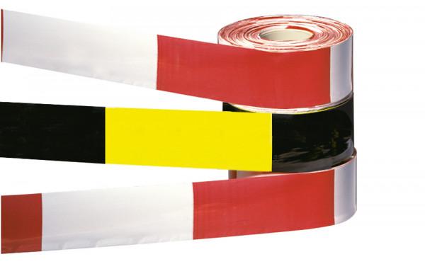 Selbstklebende und leuchtende Absperr- und Warnbänder mit Bandbreite 50 mm und Bandlänge 2500 mm