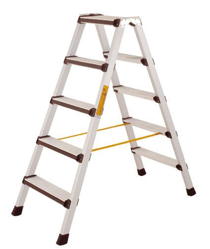 Stufen-Stehleiter beidseitig begehbar leitfähig