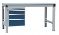 Schubfach-Unterbauten MULTIPLAN, stationär, 1x50, 1x100, 1x150, 1x200 mm 700 / Lichtgrau RAL 7035