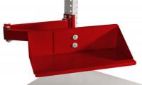 Sichtboxen-Regal-Halter-Element Rubinrot RAL 3003 / Doppelgelenk