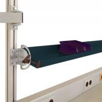 Neigbare Ablagekonsolen für Alu-Aufbauportale Anthrazit RAL 7016 / 1200 / 495