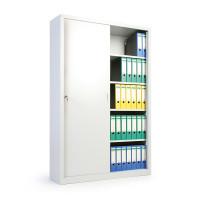 Büro-Schiebetürenschrank B x T 1200 x 450 mm 750 / 1