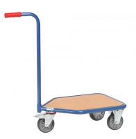 Griffroller, 3-Rad-Roller mit Holzplattform 600 x 450 mm