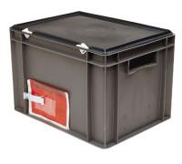 Etikettenklammer für Euronorm Stapelbehälter