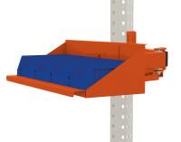 Sichtboxen-Regal-Halter-Element für MULTIPLAN / PROFIPLAN Rotorange RAL 2001