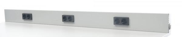 Energie-Versorgungs-Kanal, 3x2 Schuko-Steckdosen