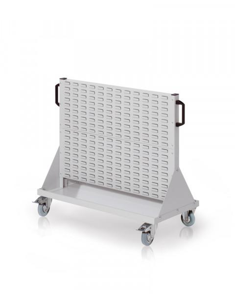 Rollwagen mit Sichtlagerkästen, Doppelseitig Nutzung, Höhe 890 mm