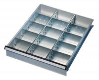 Unterteilungs-Set 3 2 Fachschienen, 2 Seitenschienen, 12 Fachteiler / 50