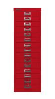 Schubladenschrank mit 15 Schubladen für DIN A4 Kardinalrot