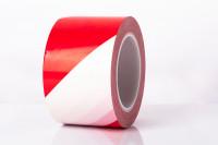 Bodenmarkierungsband Extra 75 / rot/weiß