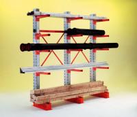 Kragarmregale mittelschwer, zweiseitige Nutzung, Höhe 3496 mm 2180 / 2x1000