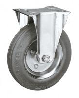 Bockrolle auf Vollgummi-Bereifung 100 / Stahlblech