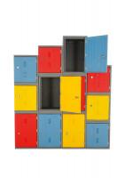 Kunststoff-Schließfächer 460 / Blau
