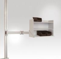 Sichtboxen-Regal, leitfähig Lichtgrau RAL 7035