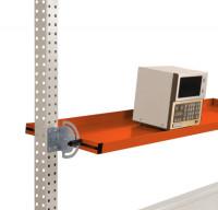 Neigbare Ablagekonsole für Werkbank PROFI Rotorange RAL 2001 / 1250 / 495