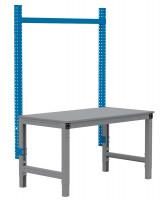 MULTIPLAN Stahl-Aufbauportale ohne Ausleger, Anbaueinheit 1250 / Brillantblau RAL 5007