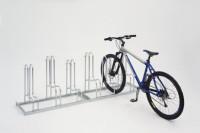 Fahrradständer verzinkt für hohe Standsicherheit mit einseitiger Radeinstellung 90° mit Stellraumtie 2100 / 6