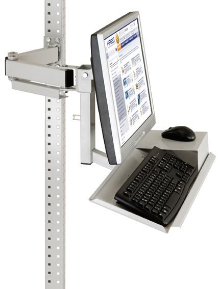 Monitorträger mit Tastatur- und Mausfläche