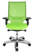 Bürodrehstuhl Miami Alu-poliert/Rahmen schwarz / Apfelgrün