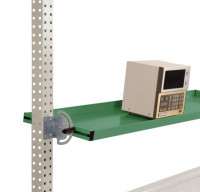 Neigbare Ablagekonsolen für Stahl-Aufbauportale Resedagrün RAL 6011 / 2000 / 495