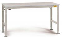Grundarbeitstisch Kunststoff 28 mm UNIVERSAL Standard, leitfähig 1000 / 600 / Lichtgrau RAL 7035