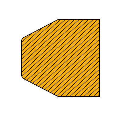 Warn-und Schutzprofile/Prallschutz zum Verbohren für Flächenschutz in Rechteck-Form