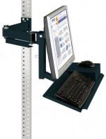 Monitorträger mit Tastaturträger und Mausfläche für MULTIPLAN Arbeitstische Anthrazit RAL 7016 / 75